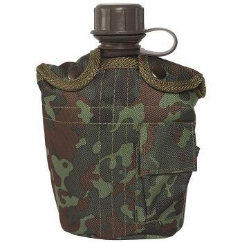 Mil-tec - Feltflaske med Taske (Flecktarn)