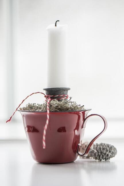 Rød kop mini rød emalje