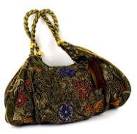 mosgrøn-dametaske-håndsyet-med-perler