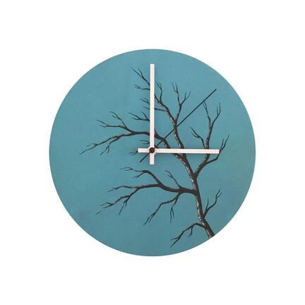 Vægur blå med grene