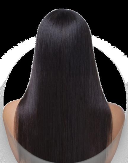 striber og reflexer i langt hår