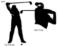 Sportsign golf male sporty auto deko sticker silhouet