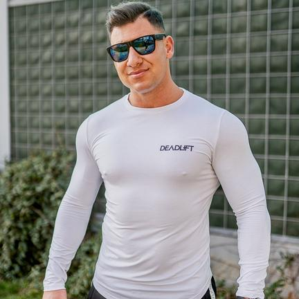 Stony Sportswear, Deadlift, Langærmet T-shirt Hvid