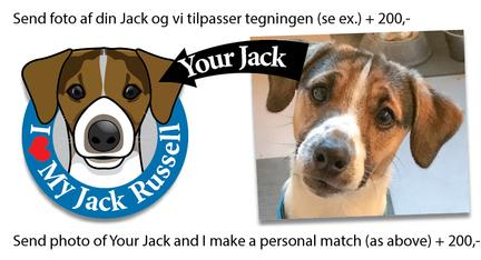 Your My Jack Russell bumper sticker blue male