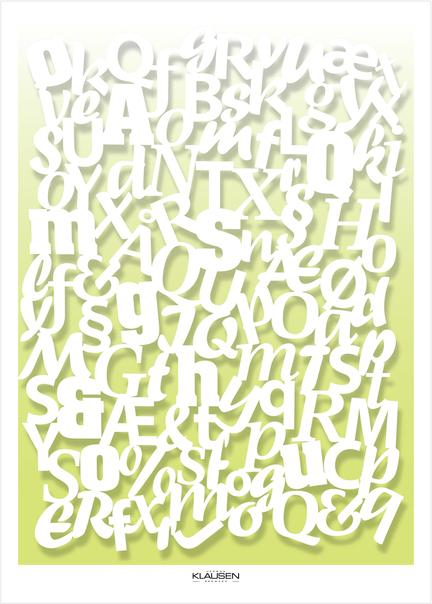fonts skrift cut out Klausen design type typo art poster plakat art work web shop