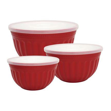 GreenGate bowl sæt af 3 alice red