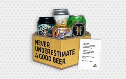 Send en hilsen med øl   Beer Me