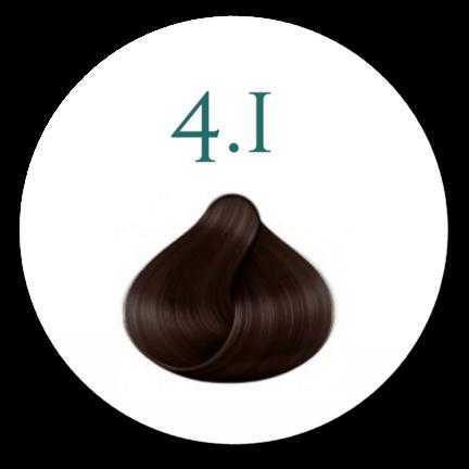 Hårfarve 4.1 Er dyb medium Brun kold hårfarve
