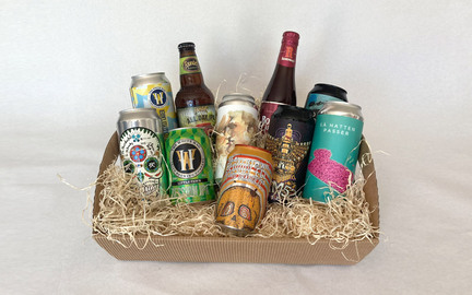 Gavekurv med 10 blandede specialøl · Beer Me
