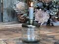 Glas m. skruelåg med holder til bedelys, fra Chic Antique