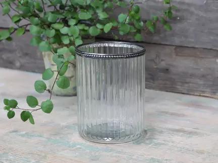 Glas skjuler med perlekant