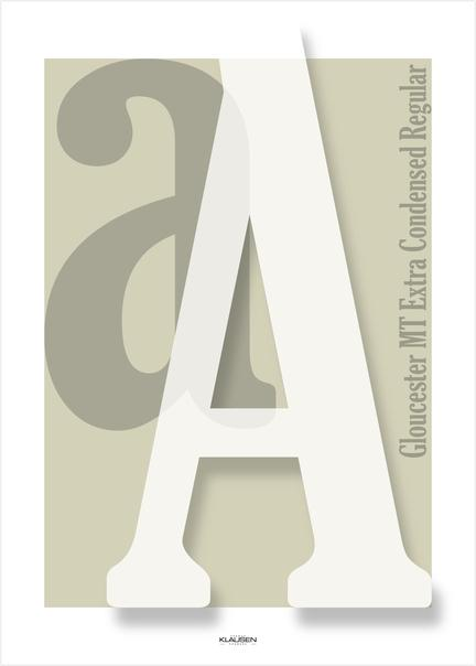 Aa Gloucester colour farve collage Klausen design type typo art poster plakat art work webshop sale