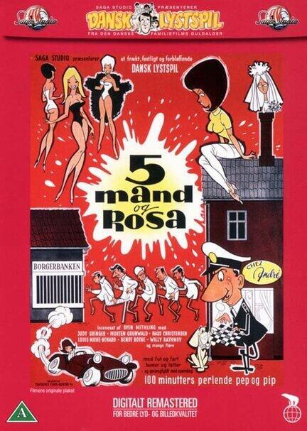 5 mand og Rosa, DVD, Film, Movie