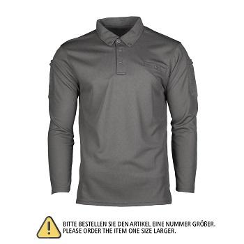 Mil-tec - Hurtig Tørrende Langærmet Polo (Urban Grey)