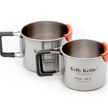 Kelly Kettle – Krus 2-pak (rustfri stål)