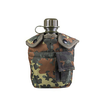 Mil-tec - Feltflaske med Krus (Flecktarn)