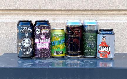 6 blandede øl fra engelske bryggerier