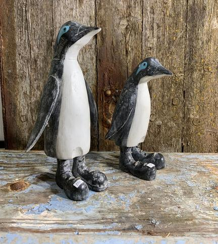 Pingviner i træ med støvler