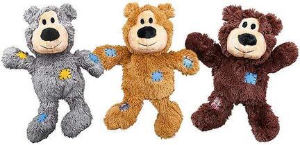 KONG-hundebamse-wild-knots-bear-lysebrun